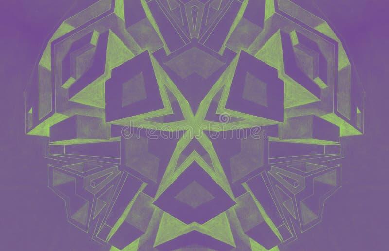 Skära i tärningar blyertspennateckningen som göras av en 5th frambragd väghyveldator vektor illustrationer