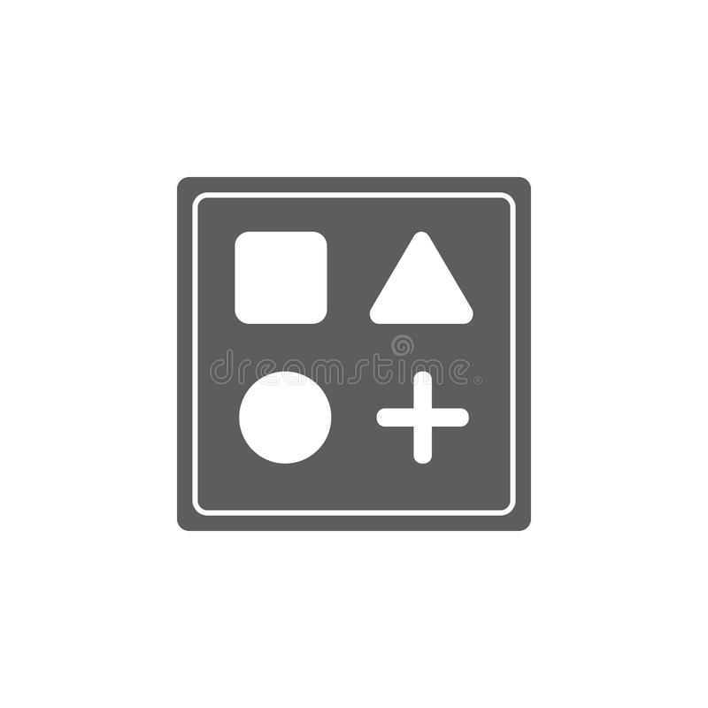 skära i tärningar med teckensymbolen Beståndsdel av leksaker för mobila begrepps- och rengöringsdukapps Symbol för websitedesigne vektor illustrationer