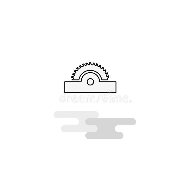 Skärarerengöringsduksymbol Den plana linjen fyllde Gray Icon Vector vektor illustrationer