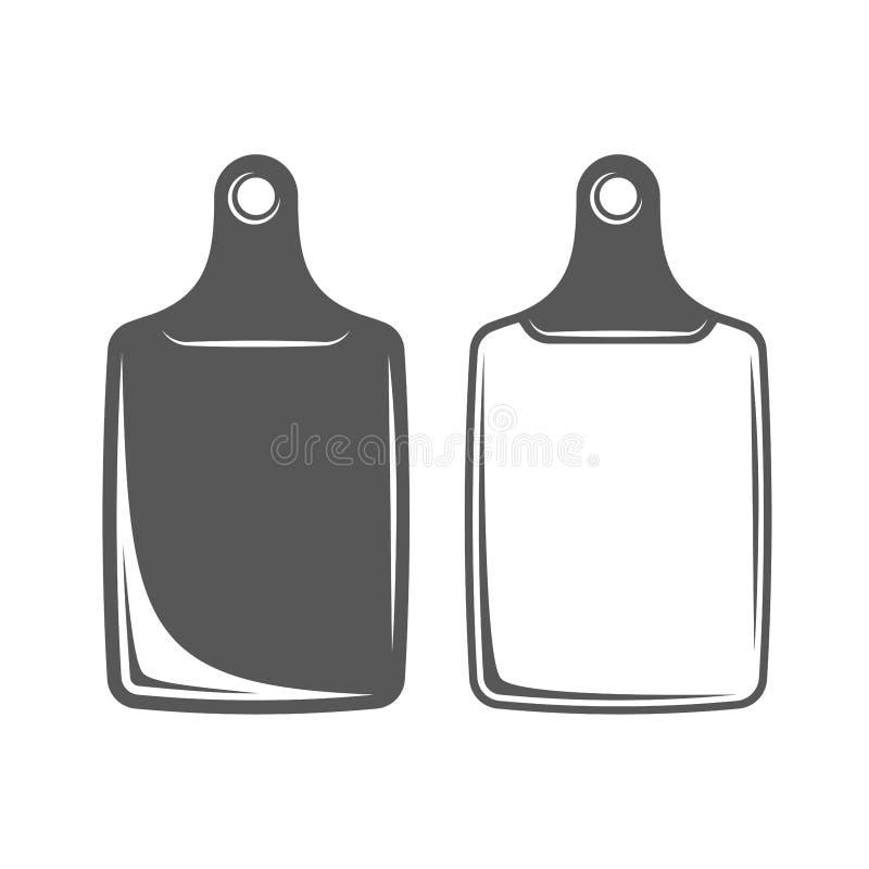 Skärbrädabeståndsdel royaltyfri illustrationer