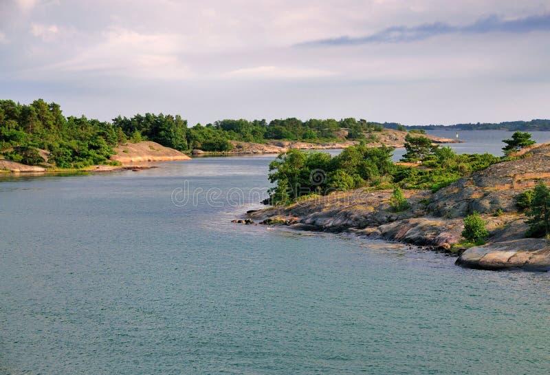 Skärgård av Aland, Finland arkivbilder