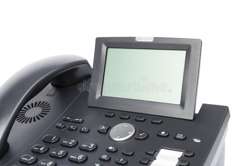 Skärm av den moderna affärstelefonen royaltyfri foto