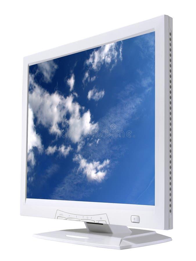 skärm för 2 lcd fotografering för bildbyråer