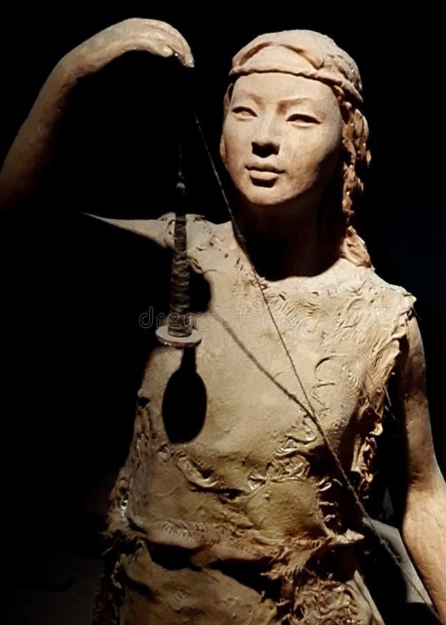 Skärm för liv för ` s Wushan för forntida folk royaltyfri fotografi