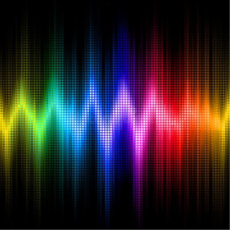 Skärm för solid våg med färger för synligt spektrum royaltyfri illustrationer