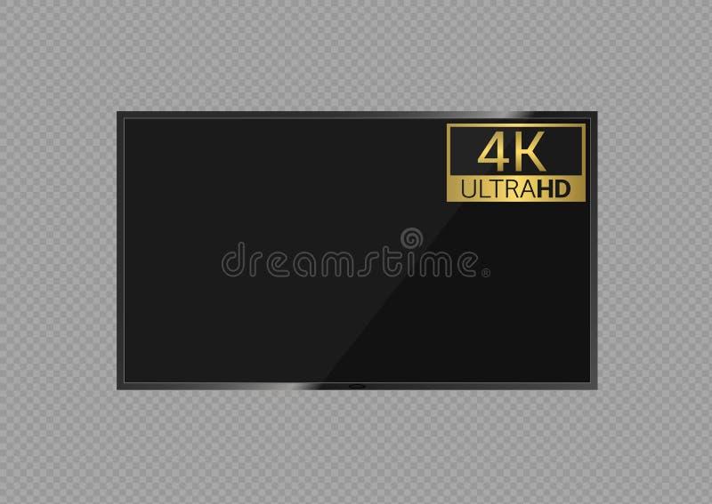 skärm för tv 4k vektor illustrationer