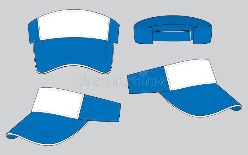 Skärmdesignvektor: Vitt/blått stock illustrationer