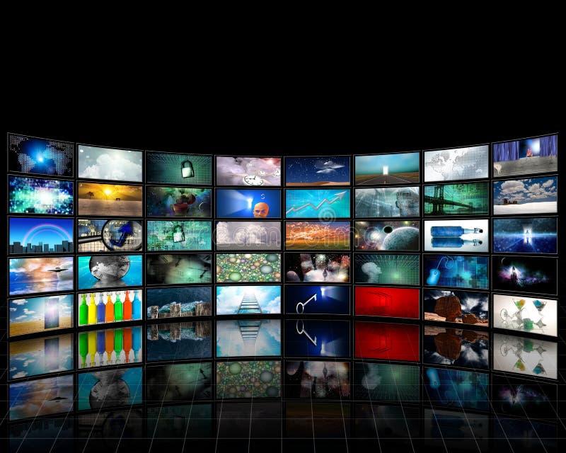 skärmvideo stock illustrationer