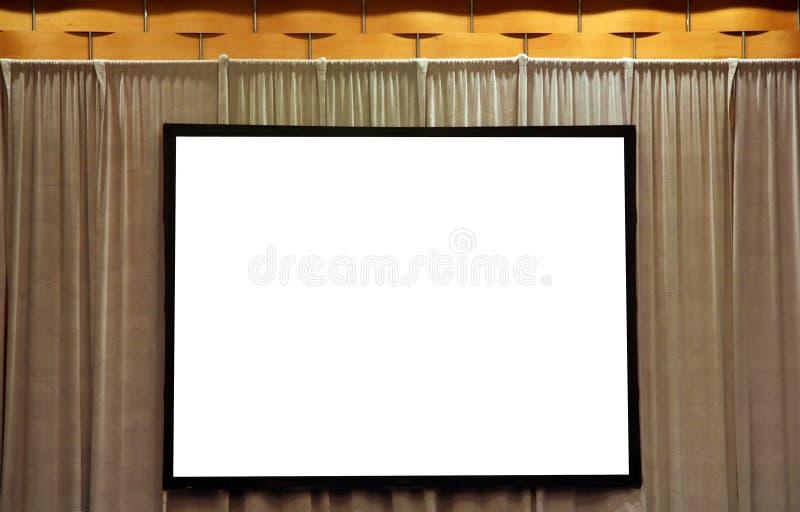 skärmwhite för blank presentation royaltyfria foton