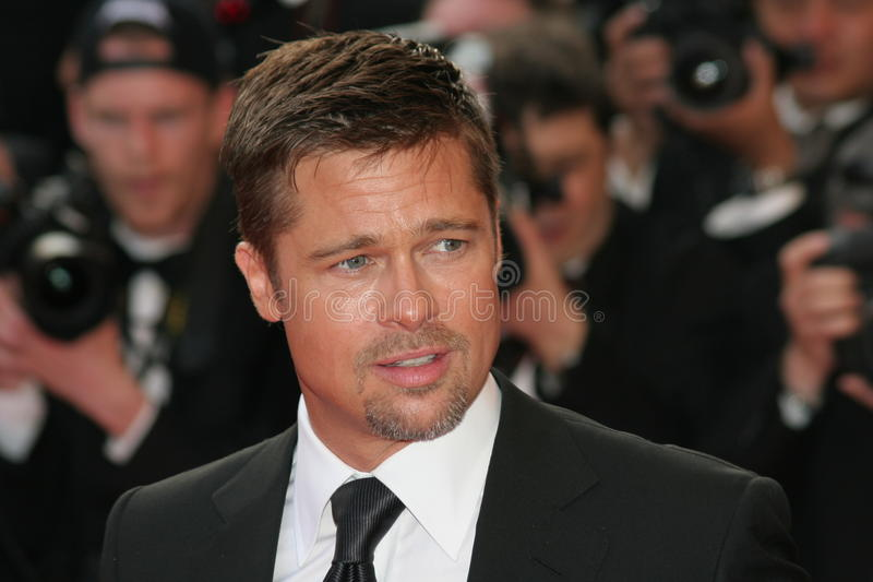 skådespelare Brad Pitt fotografering för bildbyråer