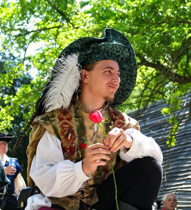 Skådespelare på den Oklahoma renässansfestivalen i muskogeen Oklahoma USA circa Maj 2005 royaltyfri fotografi