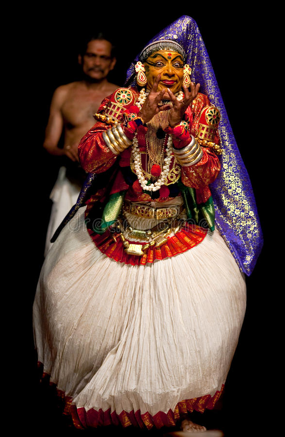 skådespelareindia kathakali södra kerala royaltyfri fotografi