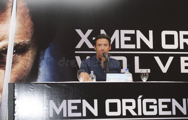 skådespelarestad hugh jackman mexico royaltyfria foton