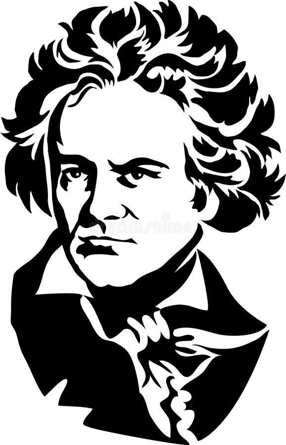 skåpbil för Beethoveneps ludwig royaltyfri illustrationer