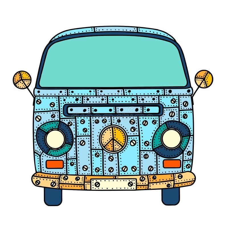 Skåpbil i zentanglestil vektor illustrationer