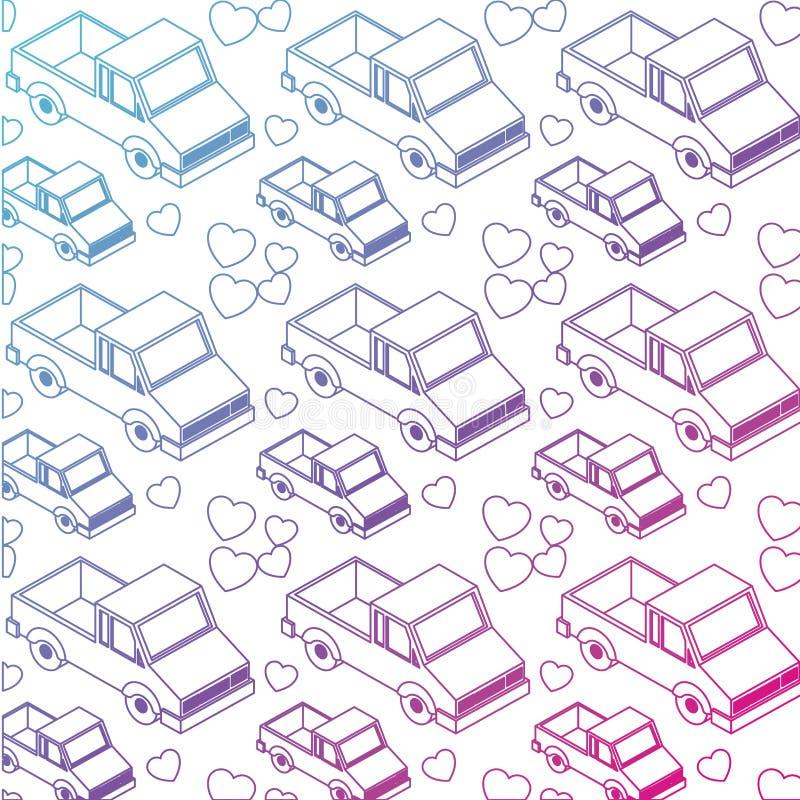 Skåpbil medel isometrisk modell stock illustrationer