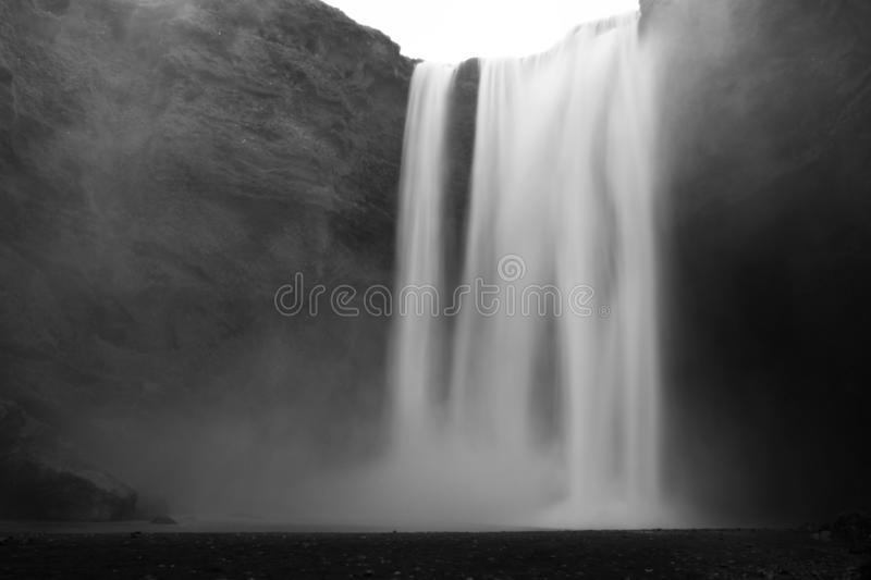 Skógafoss - one of the extras in Iceland geological aboratory. Foss in icelandic means waterfall. Skógafoss is one of the most beautifull landscapes of royalty free stock photography