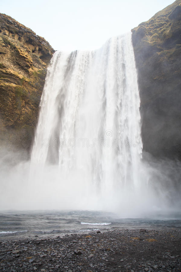 Skógafoss waterfall in southern Iceland stock photography