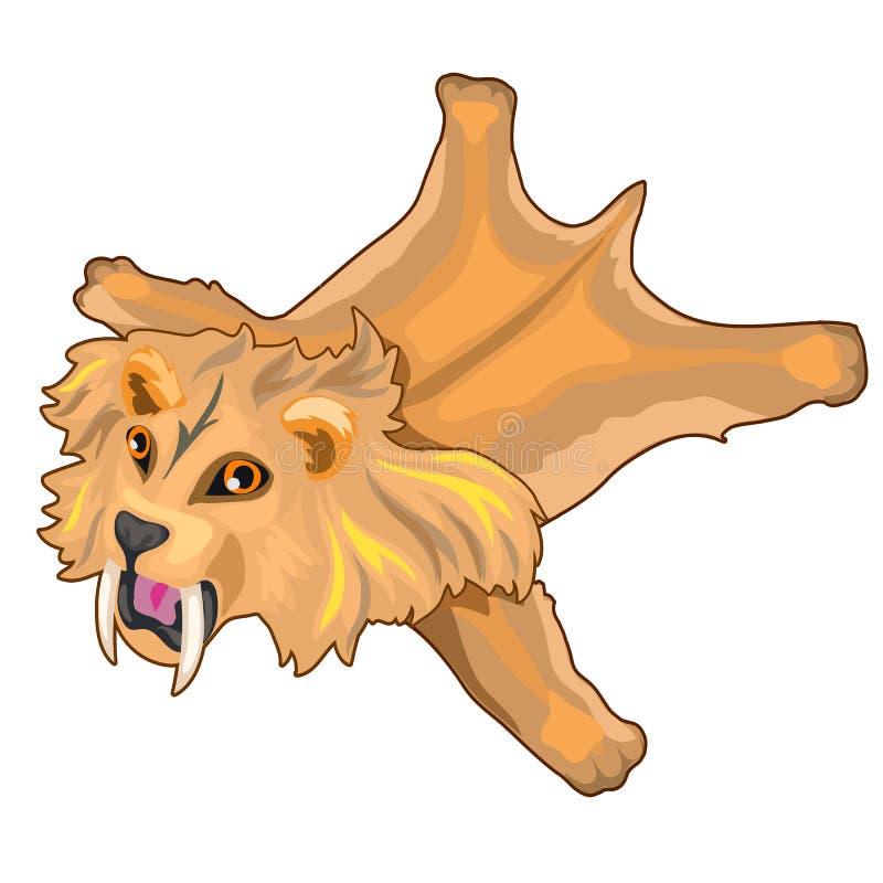 Skóra uzębiony tygrys Prehistoryczny zwierzę ilustracja wektor