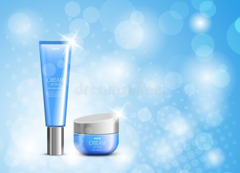 Skóry moisturizer projekta kosmetyczny szablon ilustracji