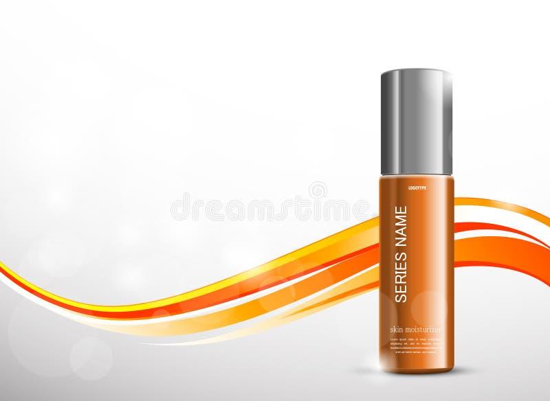 Skóry moisturizer reklam kosmetyczny szablon ilustracja wektor