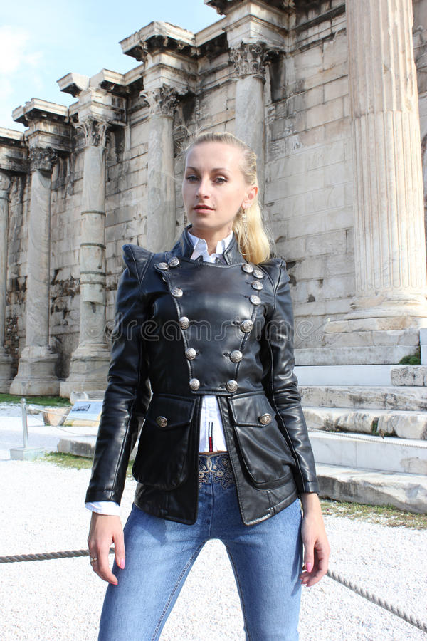 Skórzana kurtka obrazy royalty free