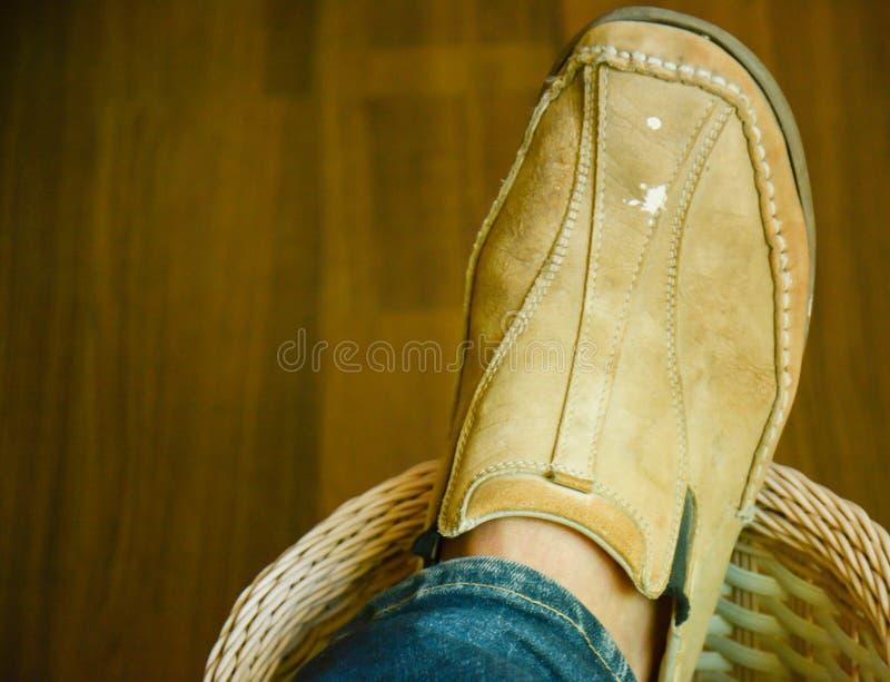 skórzane buty zdjęcia stock