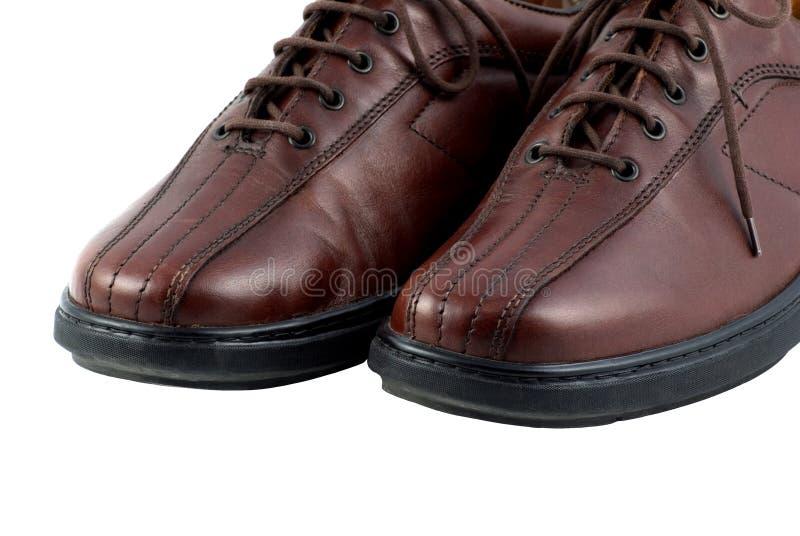 skórzane buty mężczyzn brown zdjęcia stock