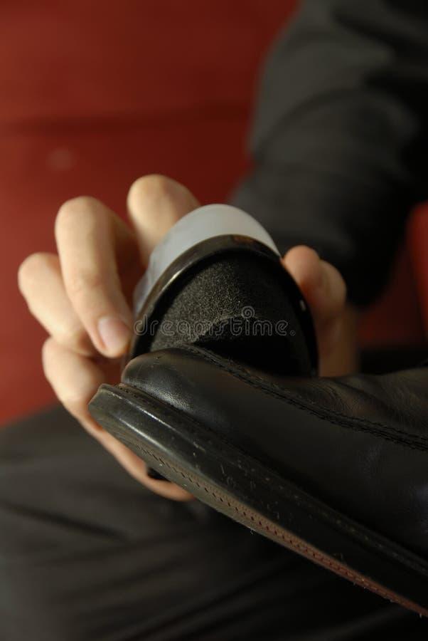 skórzane buty shine obraz stock