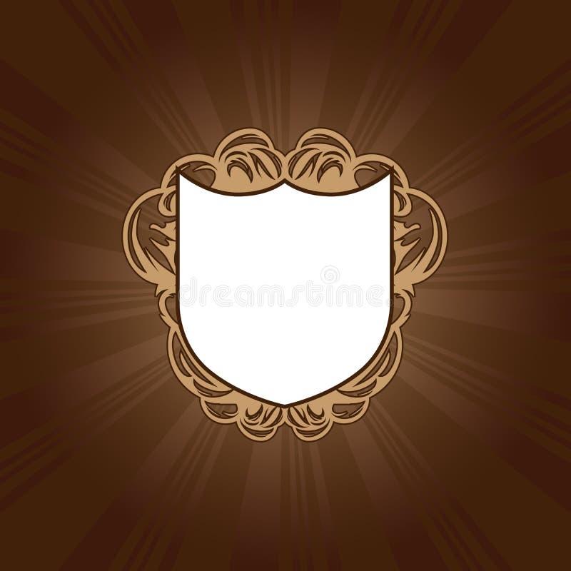 sköld royaltyfri illustrationer