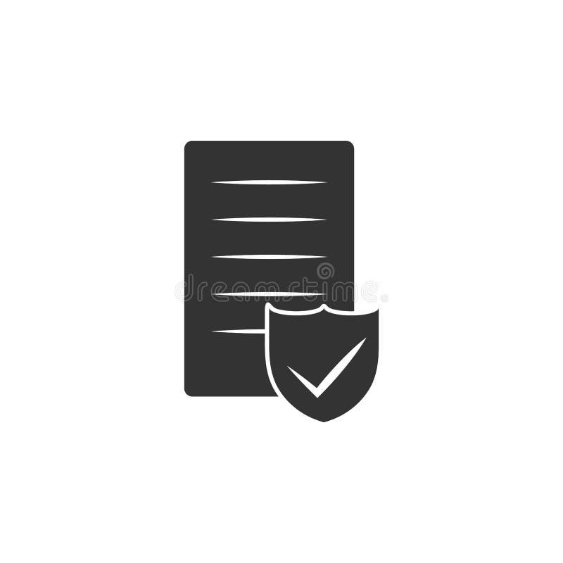 Sköld på serversymbolen Beståndsdel av internetsäkerhetssymbolen för mobila begrepps- och rengöringsdukapps Detaljerad sköld på s royaltyfri illustrationer