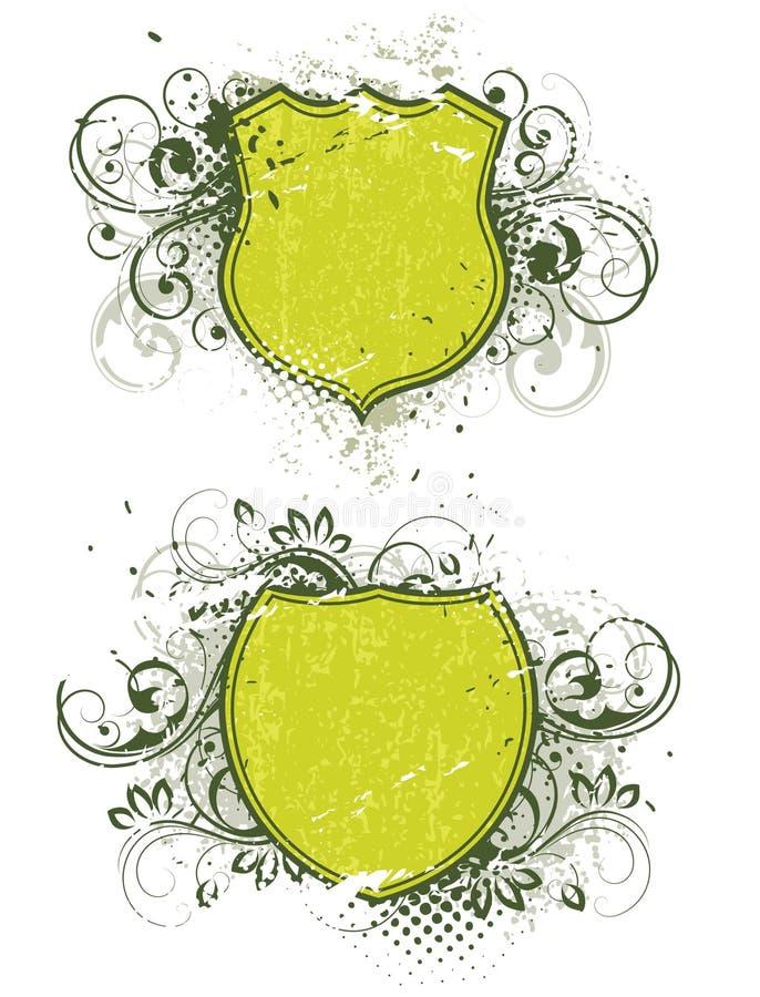 sköldar royaltyfri illustrationer