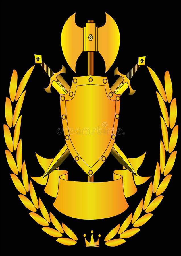 Sköldbandvapen Royaltyfri Fotografi