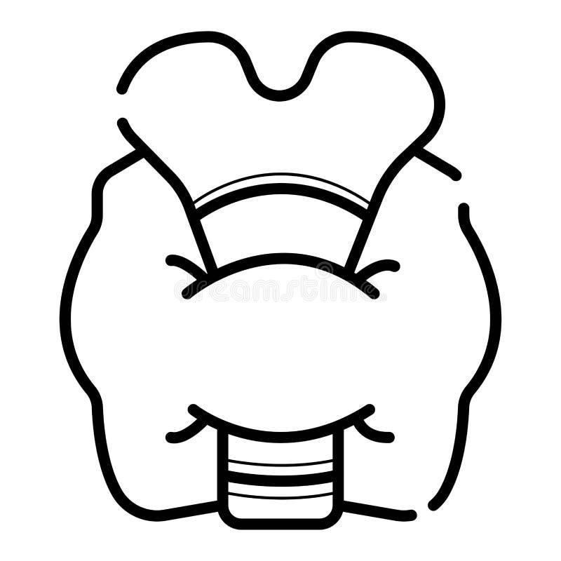Sköldkörtelvektorsymbol royaltyfri illustrationer