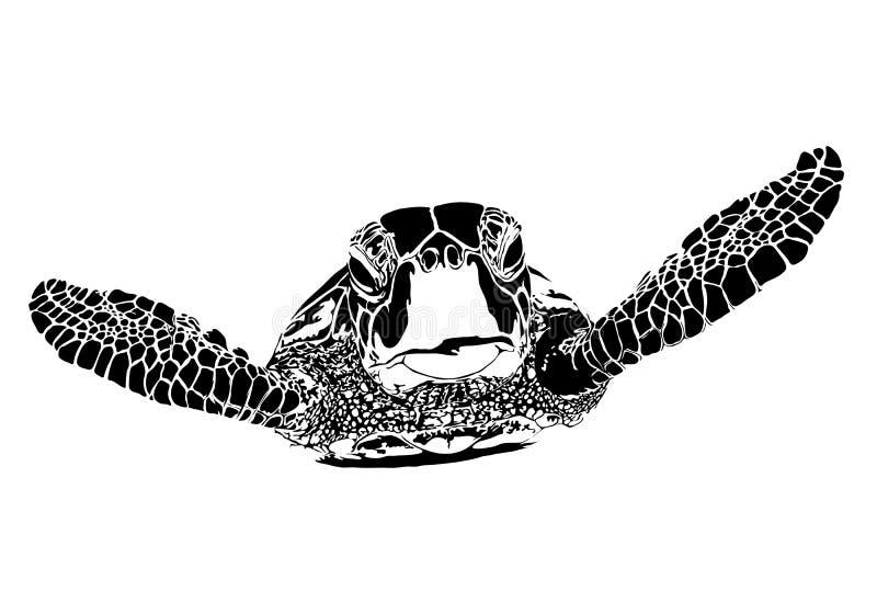 Sköldpaddakontur vektor illustrationer