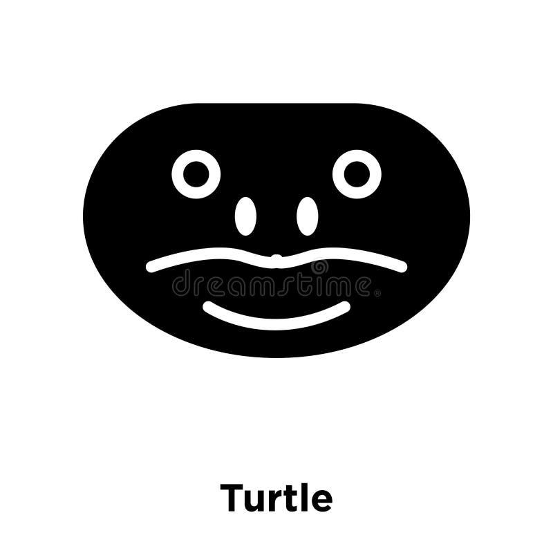 Sköldpaddasymbolsvektor som isoleras på vit bakgrund, logobegrepp av stock illustrationer