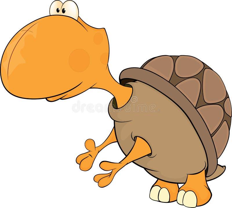 Sköldpaddatecknad film royaltyfri illustrationer