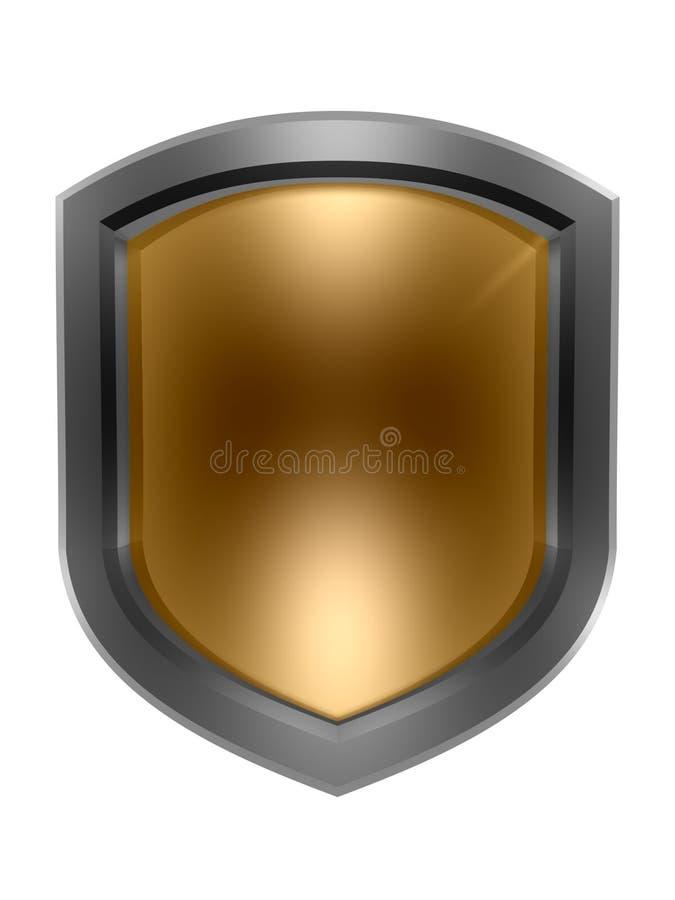 sköldsymbol royaltyfri illustrationer