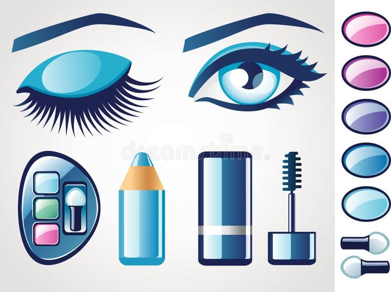 skönhetögonsymboler stock illustrationer