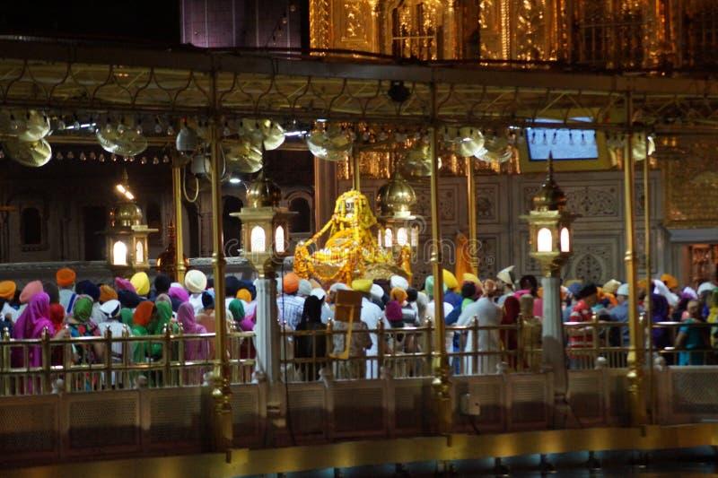 Skönhet av den guld- templet i Indien fotografering för bildbyråer