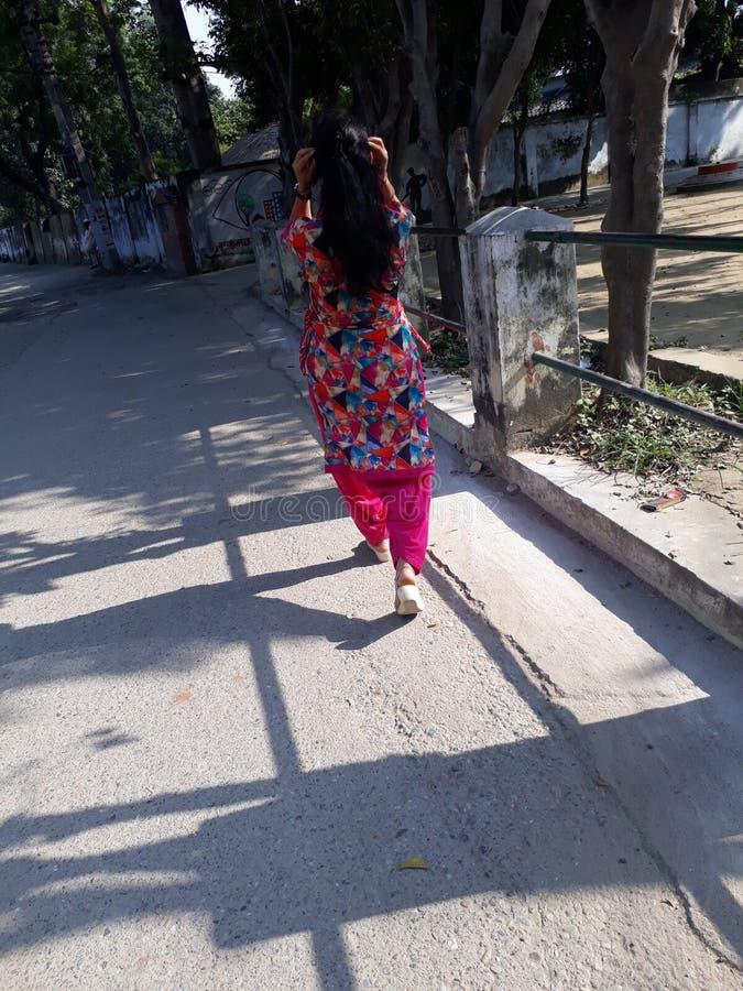 Skönhet av den indiska flickan arkivfoton