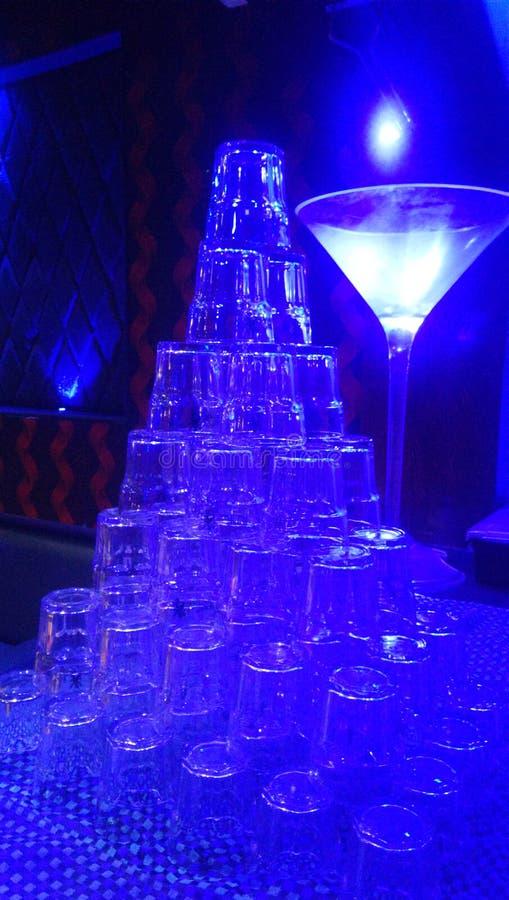 Skönhet av exponeringsglasskuggor av blått royaltyfri fotografi