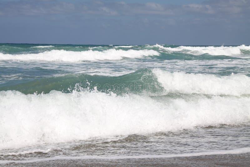 Skönhet av havsstormen royaltyfria bilder