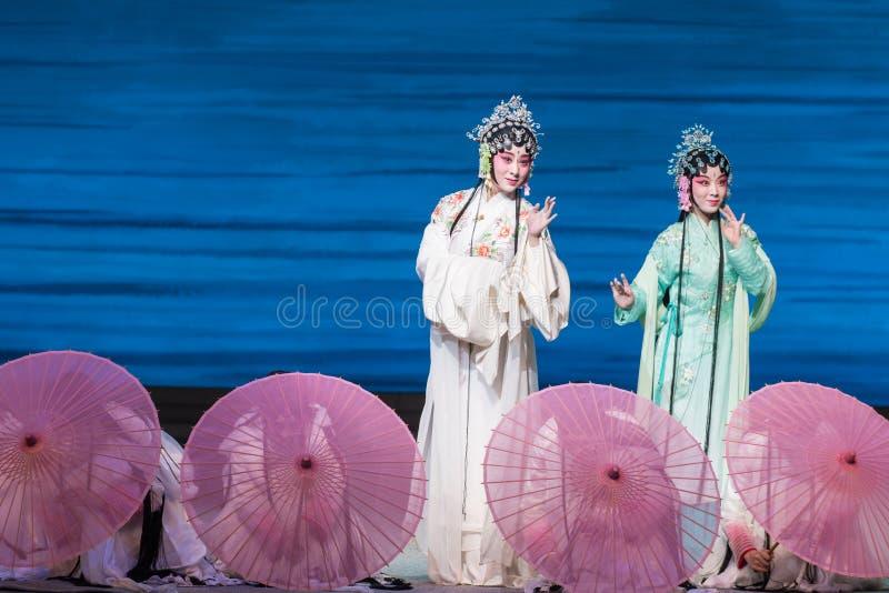 """Skönhet av Opera""""Madame vit Snake†för västra sjö-Kunqu  royaltyfri fotografi"""