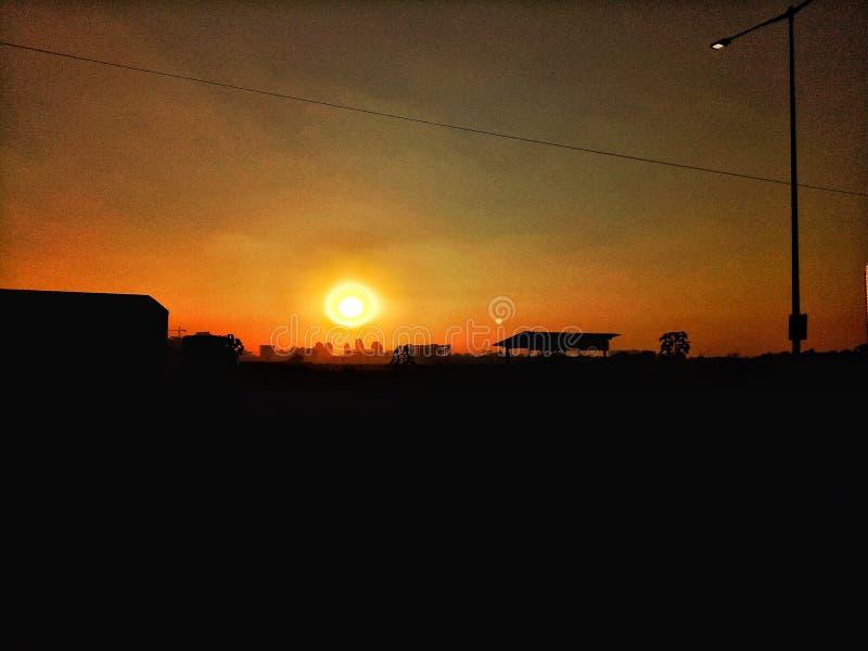 Skönhet av solnedgången royaltyfria bilder