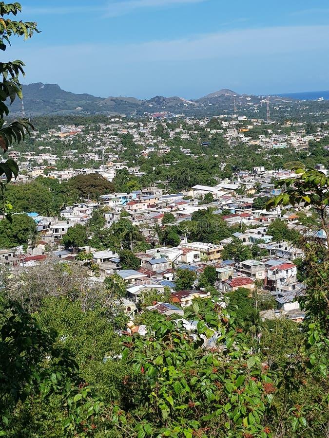 Skönhet för sikt Santo Domingo Dominican republikför huvudstad panorama- arkivfoton