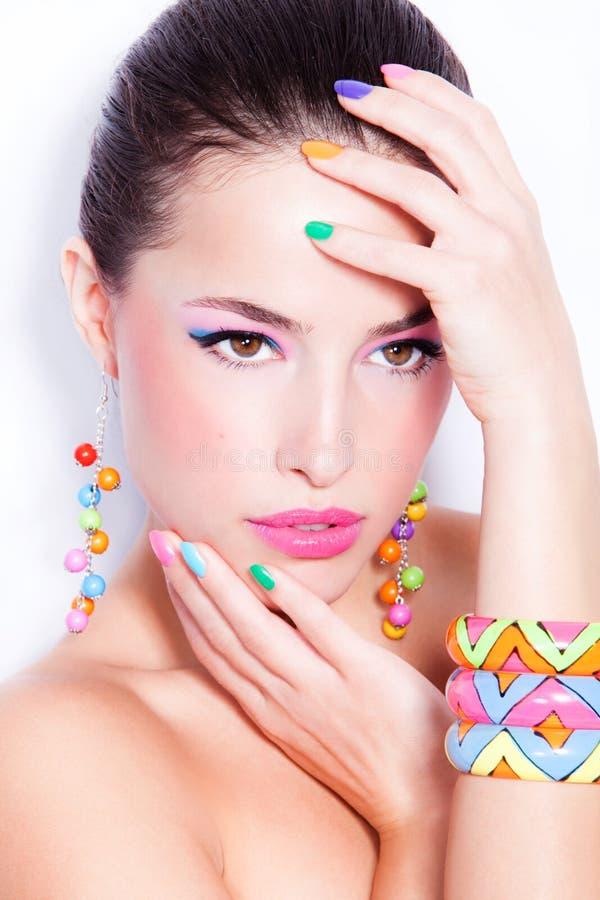 Skönhet i färg fotografering för bildbyråer