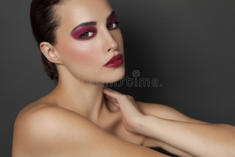 Skönhet och makeup royaltyfri fotografi