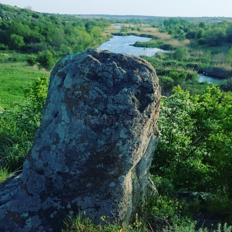 Skönhet på floden Ingul arkivfoton