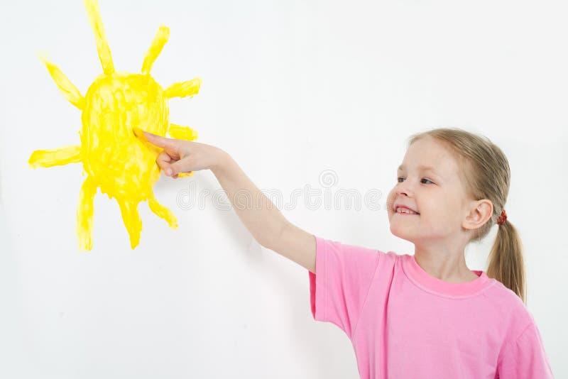 skönhetbarnmålning arkivfoton